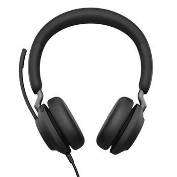 Jabra Evolve2 40 MS USB-C Stereo Headset - Black Product Image 2