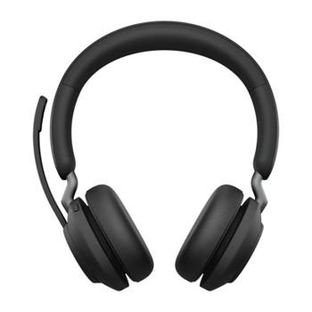 Jabra Evolve2 65 MS USB-A Stereo Bluetooth Headset w/ Charging Deskstand - Black Product Image 2