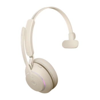 Jabra Evolve2 65 UC USB-A Mono Bluetooth Headset - Beige Product Image 2