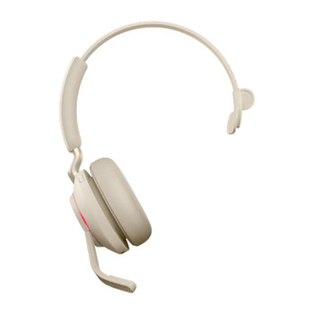Jabra Evolve2 65 UC USB-A Mono Bluetooth Headset w/ Charging Deskstand - Beige Product Image 2
