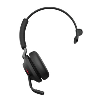 Jabra Evolve2 65 UC USB-A Mono Bluetooth Headset w/ Charging Deskstand - Black Product Image 2
