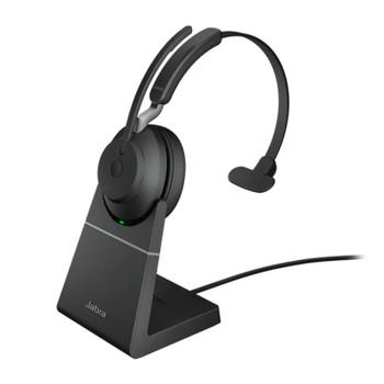 Image for Jabra Evolve2 65 UC USB-C Mono Bluetooth Headset w/ Charging Deskstand - Black AusPCMarket