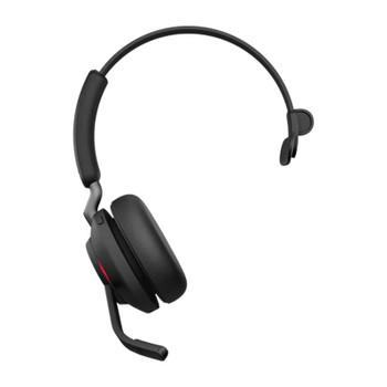 Jabra Evolve2 65 UC USB-C Mono Bluetooth Headset w/ Charging Deskstand - Black Product Image 2