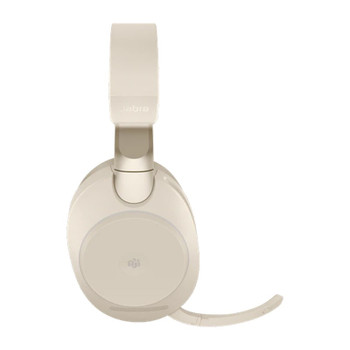 Jabra Evolve2 85 MS USB-A Stereo Bluetooth Headset - Beige Product Image 2