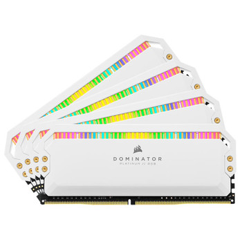 Image for Corsair Dominator Platinum RGB 32GB (4x 8GB) DDR4 3600MHz Memory - White AusPCMarket