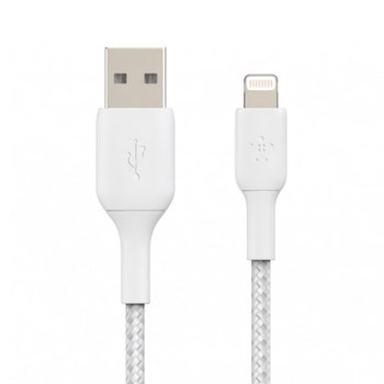 Image for Belkin Boost Charge 1m Lightning to USB-A Braided Cable - White AusPCMarket