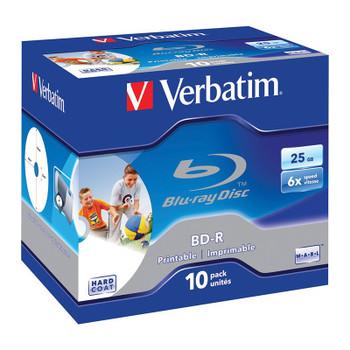 Image for Verbatim 43713 25GB BD-R Inkjet Printable Recordable Disc - 10-Pack Case AusPCMarket
