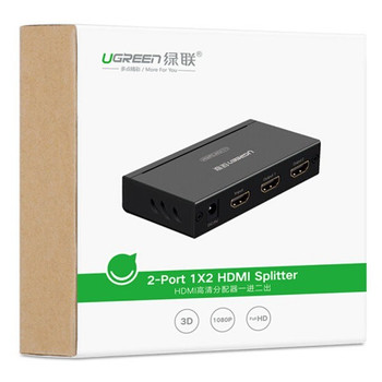 UGreen 40201 2 Port HDMI Amplifier Splitter - Black Product Image 2