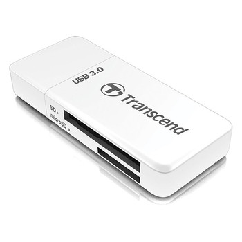 Image for Transcend RDF5W USB 3.0 Card Reader - White AusPCMarket