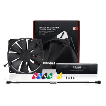 Noctua 200mm NF-A20 PWM chromax.black.swap 800RPM Fan Product Image 2