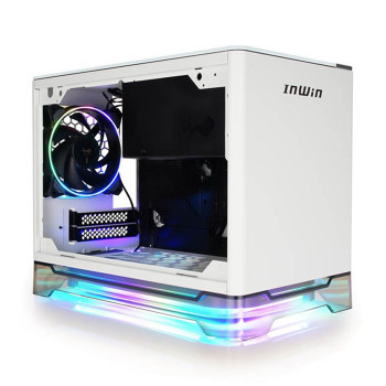 Image for In Win A1 PLUS ARGB Qi Charger TG Mini-ITX Case with 650W 80+ Gold PSU - White AusPCMarket