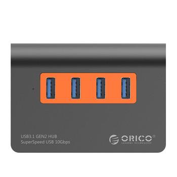 Orico 4-Port USB3.1 Gen2 Hub - Orange Product Image 2