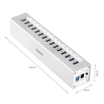 Orico A3H13P2-SV 13-Port USB 3.0 HUB + 2 Ports USB Charging - Silver Product Image 2