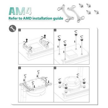 Deepcool Maelstrom Series AMD AM4 Socket Bracket Kit Product Image 2
