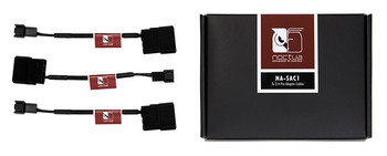 Image for Noctua Black NA-SAC1 12cm 3Pin To 4Pin Molex Power Adapter Cables - 3 Pack AusPCMarket