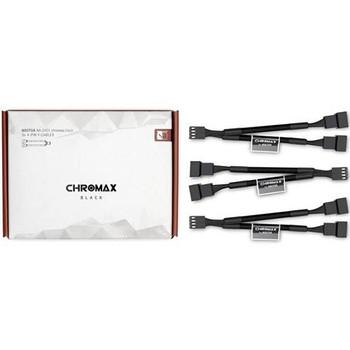 Image for Noctua Chromax.Black 11cm 4Pin PWM Fan Power Splitter Cables - 3 Pack AusPCMarket