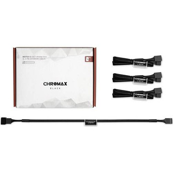 Image for Noctua Chromax.Black 30cm 4Pin PWM Power Extension Cables - 4 Pack AusPCMarket