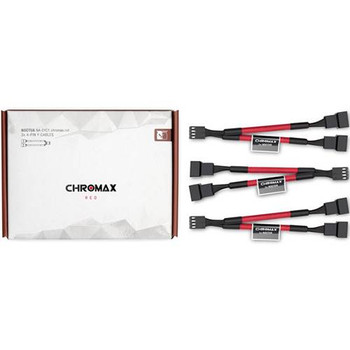 Image for Noctua Chromax.Red 11cm 4Pin PWM Fan Power Splitter Cables - 3 Pack AusPCMarket