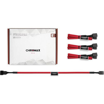 Image for Noctua Chromax.Red 30cm 4Pin PWM Power Extension Cables - 4 Pack AusPCMarket