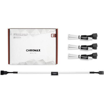 Image for Noctua Chromax.White 30cm 4Pin PWM Power Extension Cables - 4 Pack AusPCMarket