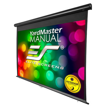 Image for Elite Screens Yard Master Manual 120in 16:9 Outdoor Pulldown Projection Screen AusPCMarket