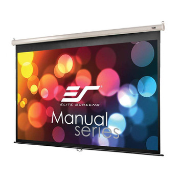 Image for Elite Screens Manual 128in 16:10 Pulldown Projection Screen - White AusPCMarket