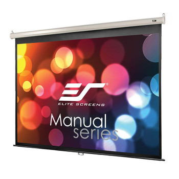 Image for Elite Screens Manual 135in 4:3 Pulldown Projection Screen - White AusPCMarket