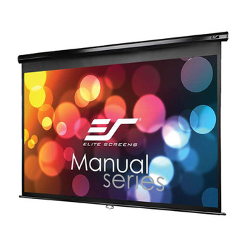 Image for Elite Screens Manual 139in 16:10 Pulldown Projection Screen - Black AusPCMarket