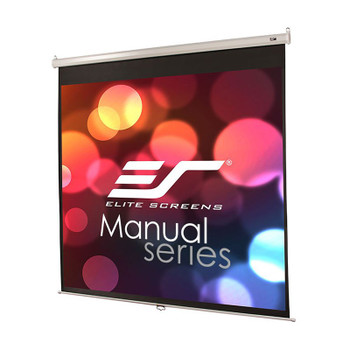Image for Elite Screens Manual 170in 1:1 Pulldown Projection Screen - White AusPCMarket