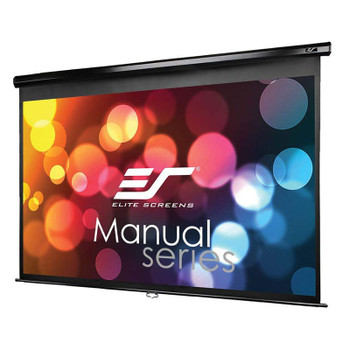 Image for Elite Screens Manual 84in 16:9 Pulldown Projection Screen - Black AusPCMarket