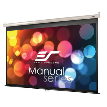 Image for Elite Screens Manual 92in 16:9 Pulldown Projection Screen - White AusPCMarket