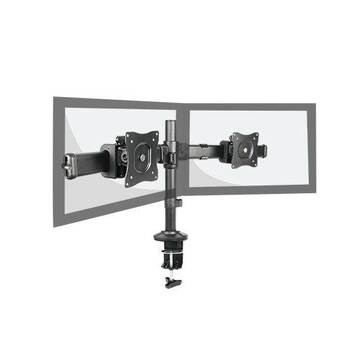 Image for Brateck Dual LCD Monitor Desk Mount with Clamp VESA 75/100mm Up to 27in AusPCMarket