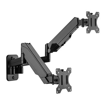 Image for Brateck Dual Monitor Wall-Mounted Gas Spring Monitor Arm - 17in-32in AusPCMarket