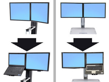 Ergotron 97-617 WorkFit Conversion Kit: Dual to LCD & Laptop (Up to 24in Monitor) Product Image 2
