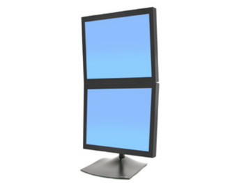 Ergotron DS100 Dual LCD Display Vertical Desk Stand - Supports up to 24in Display Product Image 2