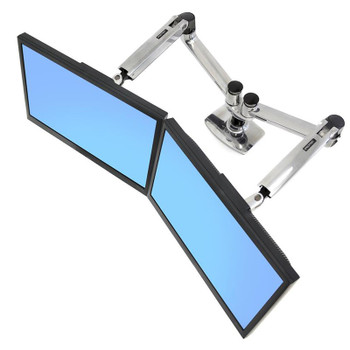 Image for Ergotron LX Dual Side-by-Side Arm Monitor Mount - Polished Aluminum AusPCMarket