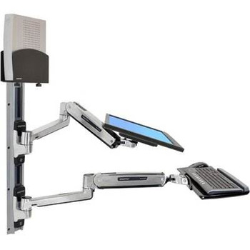 Image for Ergotron LX Sit-Stand Wall Mount System With KB, CPU and LCD (Up to 42in) Holder AusPCMarket