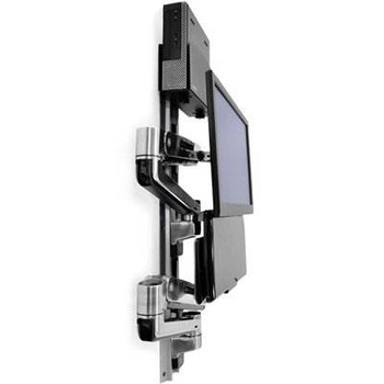 Ergotron LX Sit-Stand Wall Mount System With KB, CPU and LCD (Up to 42in) Holder Product Image 2