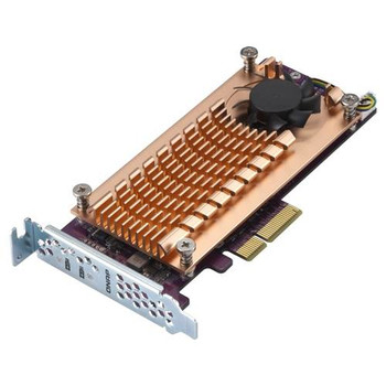 QNAP QM2-2P-244A Dual M.2 22110/2280 PCIe SSD Expansion Card Product Image 2