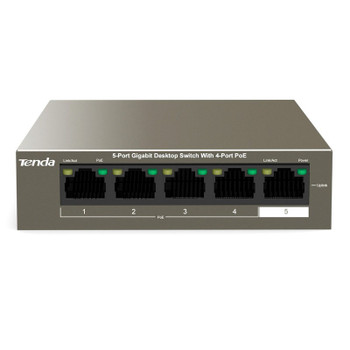 Image for Tenda TEG1105P-4-63W 5-Port Gigabit Unmanaged Ethernet Switch with 4-Port PoE AusPCMarket