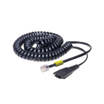 Image for Jabra 2m Coiled Quick Disconnect to Modular RJ Cable AusPCMarket