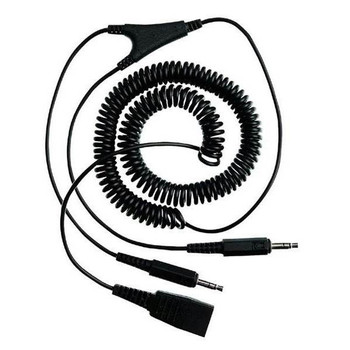 Jabra QD to 2x3.5mm 2m Coiled Cord Product Image 2