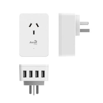 Aerocool ASA-ST1A4U2 WH Smart Charge 1 AC and 4 Port USB Fast Charge Product Image 2