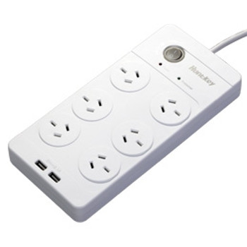 Image for Huntkey 6 Outlet Surge Protected PowerBoard with Dual 5V 2.1A USB Ports AusPCMarket