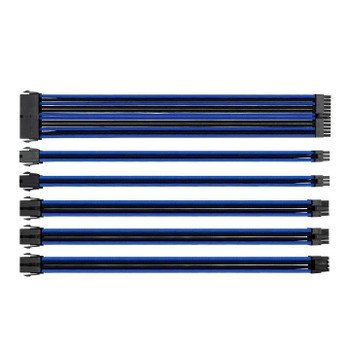 Image for Thermaltake TtMod Sleeved PSU Extension Cable Set – Blue/Black AusPCMarket
