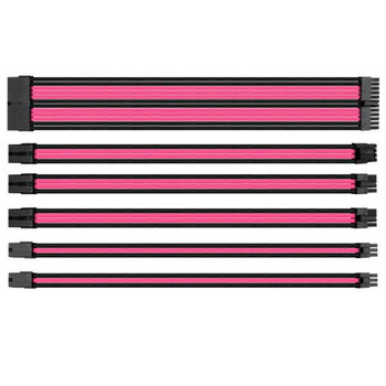 Image for Thermaltake TtMod Sleeved PSU Extension Cable Set – Pink/Black AusPCMarket