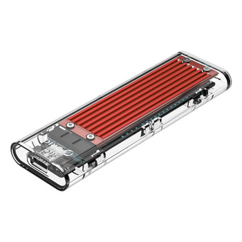 Image for Orico TCM2-C3 NVMe M.2 SSD USB 3.1 Type-C Enclosure - Red AusPCMarket