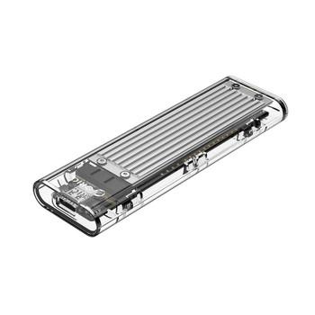 Image for Orico TCM2-C3 NVMe M.2 SSD USB 3.1 Type-C Enclosure - Silver AusPCMarket