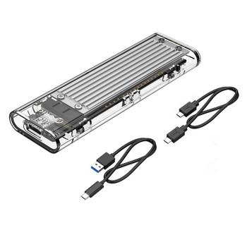 Orico TCM2-C3 NVMe M.2 SSD USB 3.1 Type-C Enclosure - Silver Product Image 2