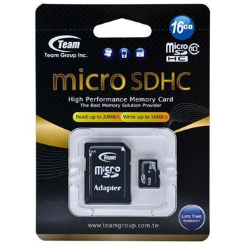 Image for Team 16GB Class 10 MicroSDHC Flash Card with SD Card Adapter Class AusPCMarket